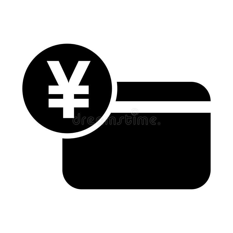 Japońskiego jenu kredytowej karty ikona ilustracji
