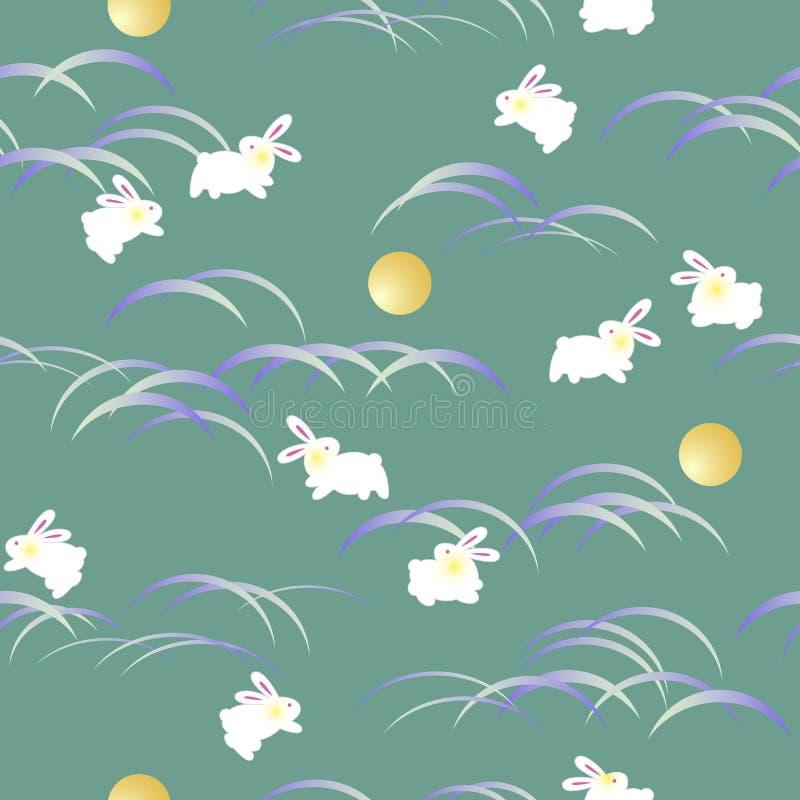 Japońskiego stylu królika wzór, royalty ilustracja