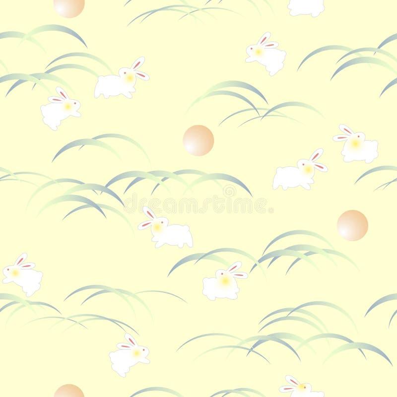 Japońskiego stylu królika wzór, ilustracja wektor