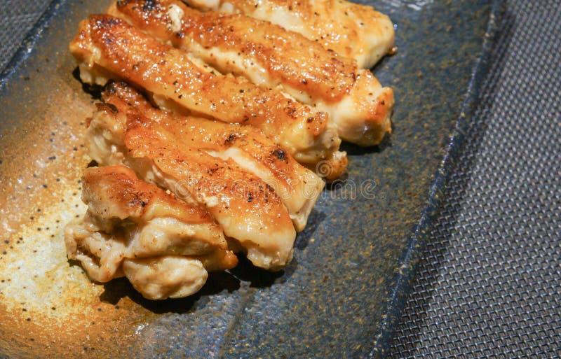 Japońskiego stylu kurczaka stek zdjęcie royalty free