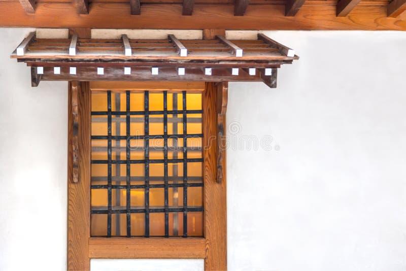 Japońskiego stylu markiza i okno obrazy royalty free