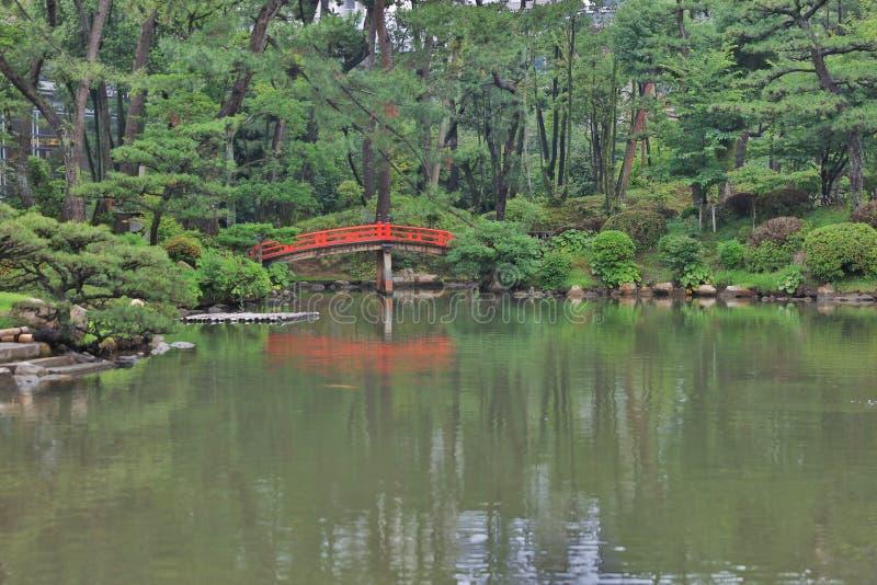 Japońskiego stylu ogród w Hiroszima, Japonia zdjęcie royalty free