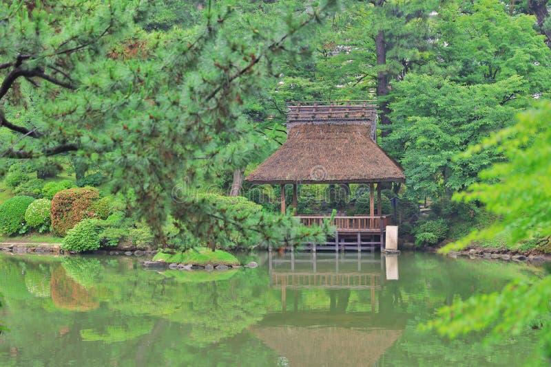 Japońskiego stylu ogród w Hiroszima, Japonia obraz stock