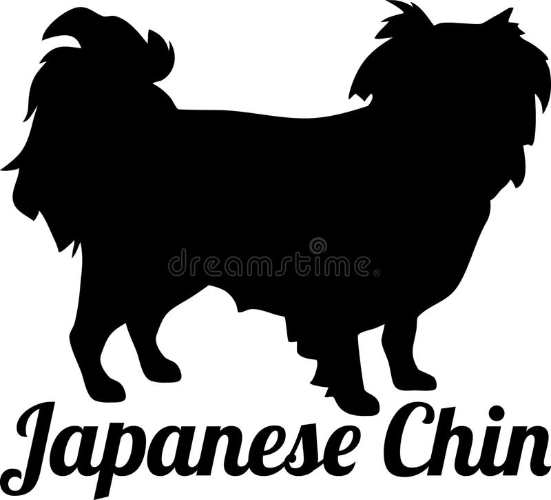 Japońskiej podbródek sylwetki istny słowo royalty ilustracja