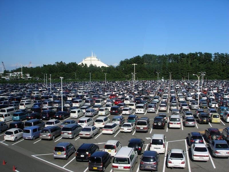 Japoński Samochodu Parking Obraz Editorial