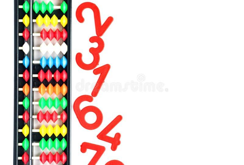 Japo?ski tradycyjny kalkulatora abakus, liczby i zdjęcie stock
