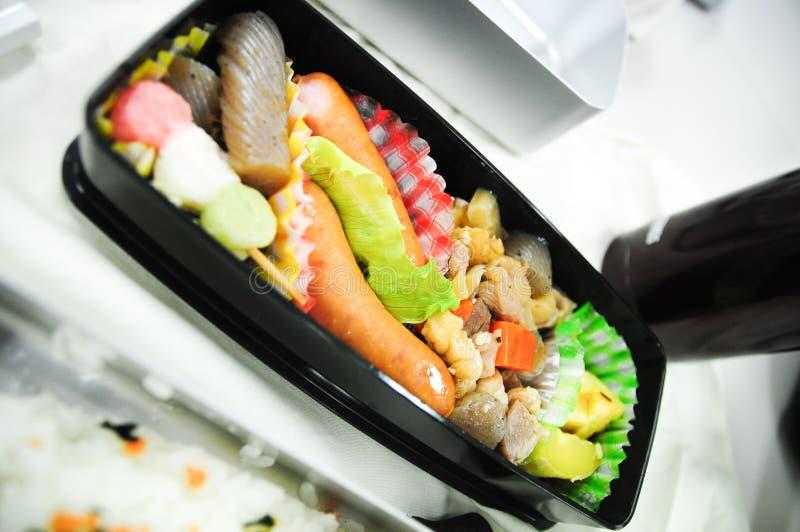 Japonés Bento (rectángulo del arroz) imagen de archivo libre de regalías