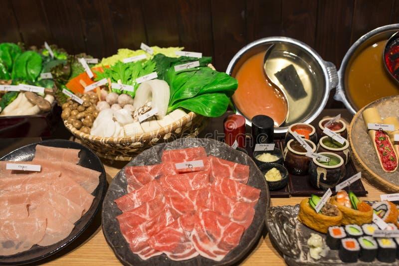 Japonês Shabu Shabu imagem de stock
