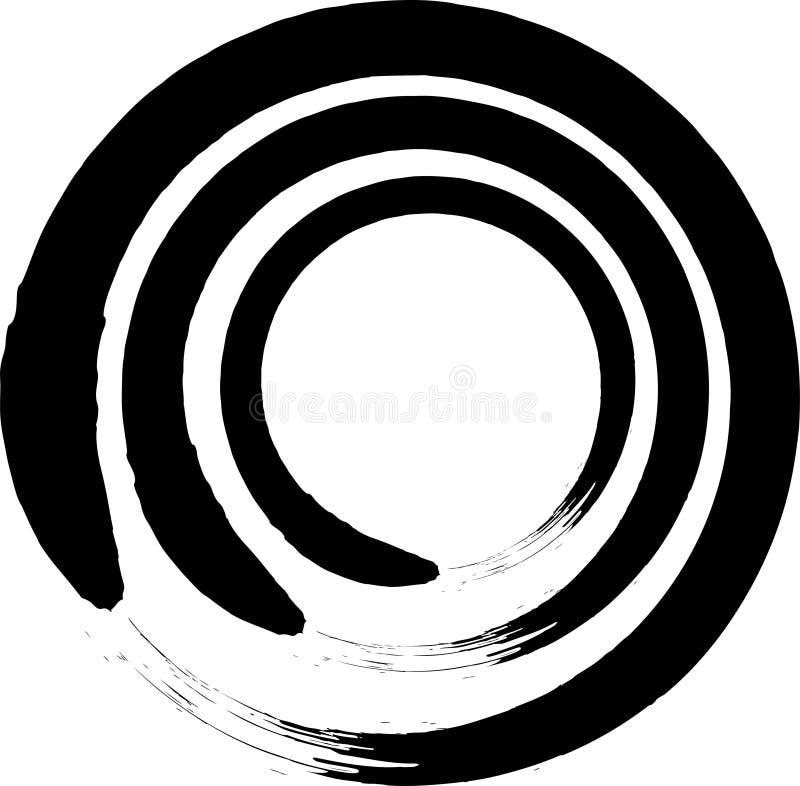 Japon?s Enso Zen Circle Brush Vector libre illustration