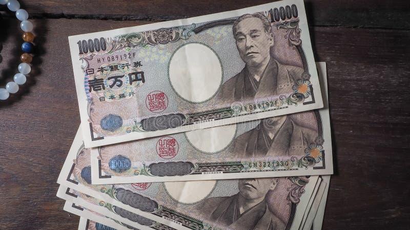 Japonia banknot zdjęcia royalty free