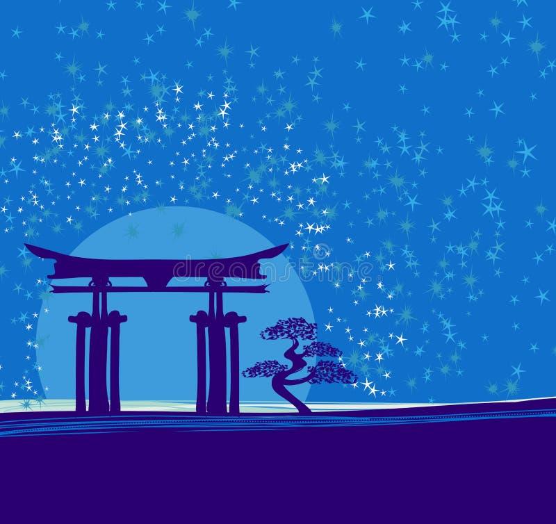 Japonia brama royalty ilustracja