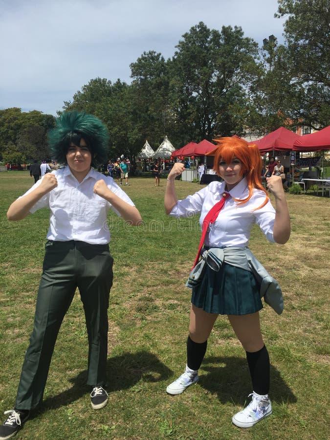 Japonia festiwal w Lisbon 22nd Czerwiec, Cosplay dziewczyny - fotografia stock