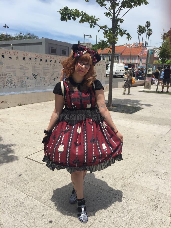 Japonia festiwal w Lisbon 22nd Czerwiec, Cosplay dziewczyny - obraz royalty free
