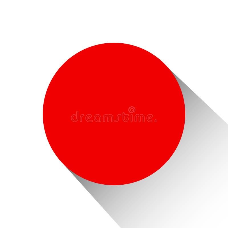 Japonia flaga państowowa ilustracja wektor