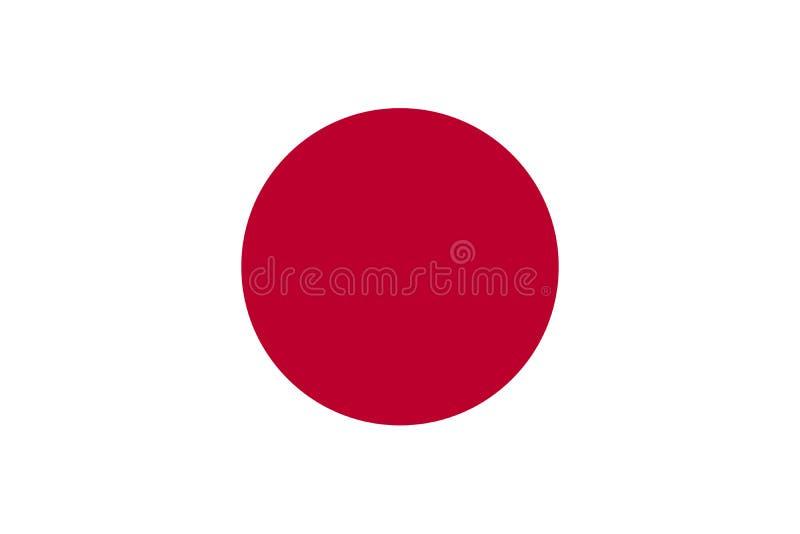 Japonia flaga pa?stowowa r?wnie? zwr?ci? corel ilustracji wektora Tokio royalty ilustracja