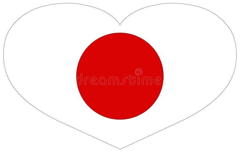 Japonia flaga - wyspa kraj w Azja ilustracji