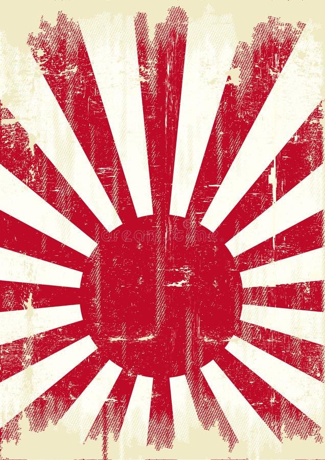 Japonia grunge flaga ilustracji