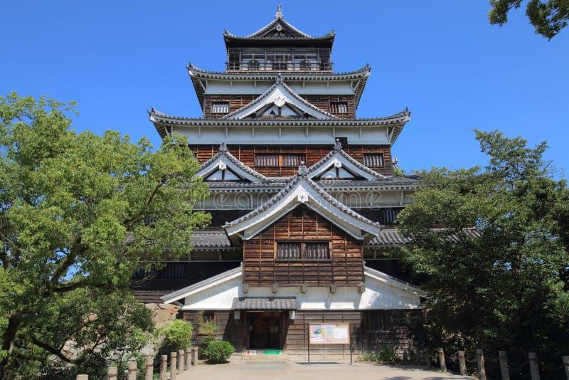 Japonia: Hiroszima kasztel zdjęcie stock