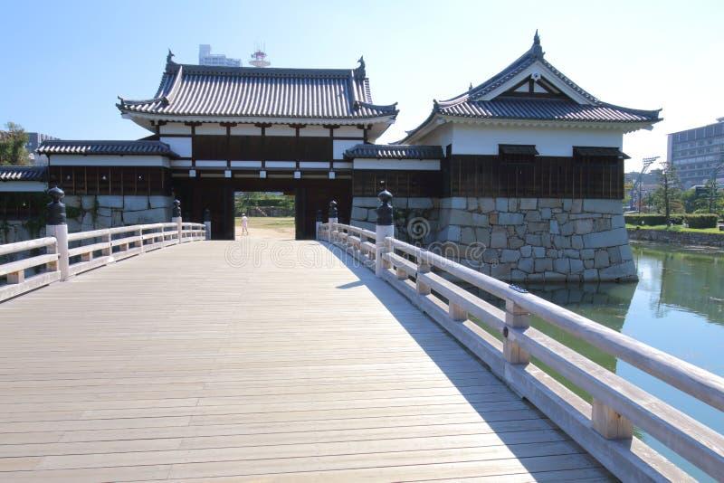 Japonia: Hiroszima kasztel fotografia stock