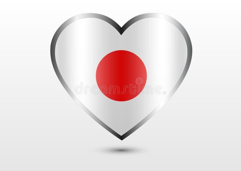 Japonia miłości kraj ilustracja wektor