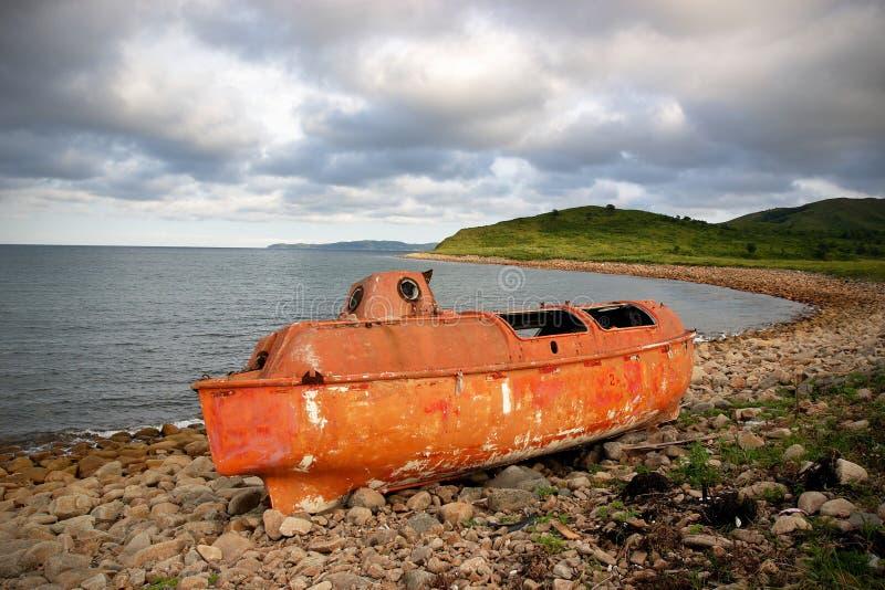 Japonia morze. Bezpieczna łódź 2 zdjęcia royalty free