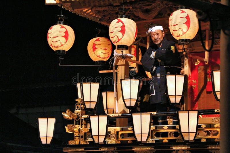 Japonia nocy lampiony obrazy stock