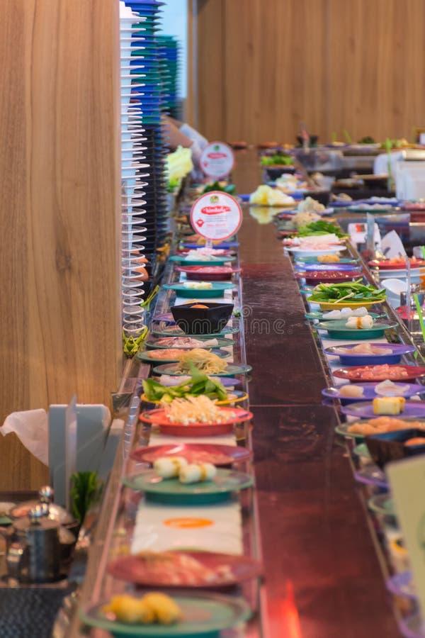 Japonia restauraci paska bufet fotografia stock