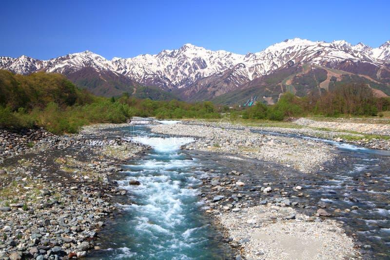 Download Japonia rzeka i Alps obraz stock. Obraz złożonej z naturalny - 33376835
