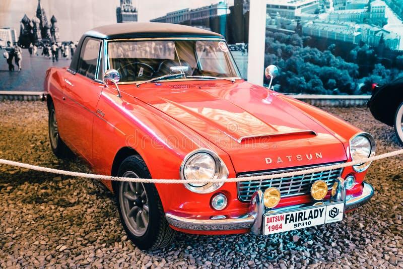 Japonia sportów samochód Datsun 1964 roku od muzeum Moskwa transport zdjęcie stock