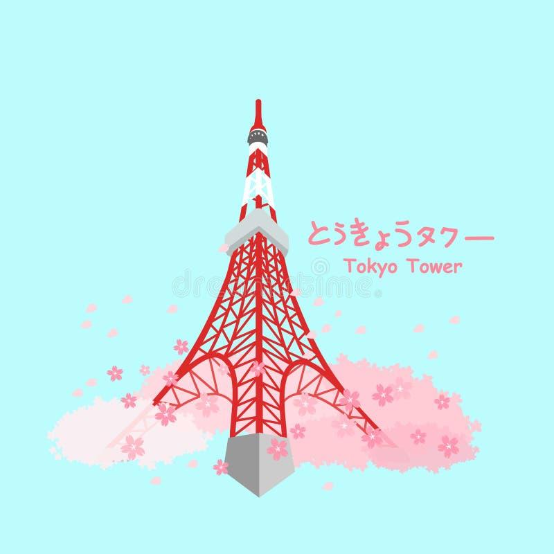 Japonia Tokyo wierza royalty ilustracja