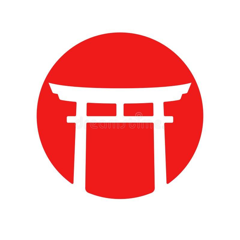 Japonia Torii bramy logo ilustracji