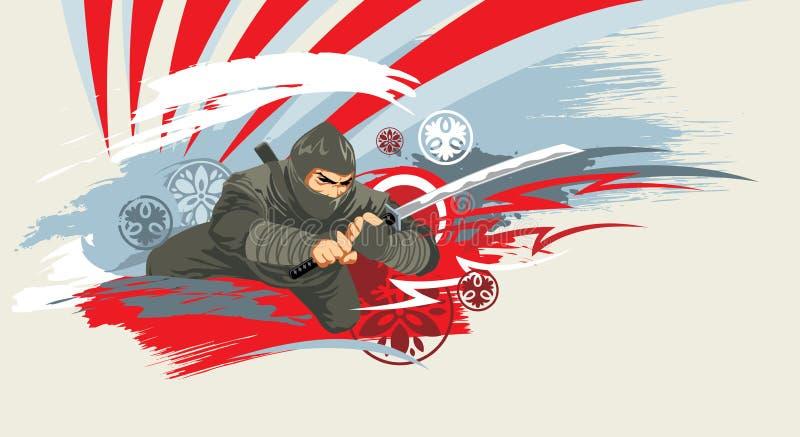 Japonia wojownik royalty ilustracja