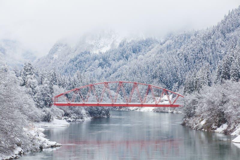 Japonia wsi zimy krajobraz zdjęcie royalty free