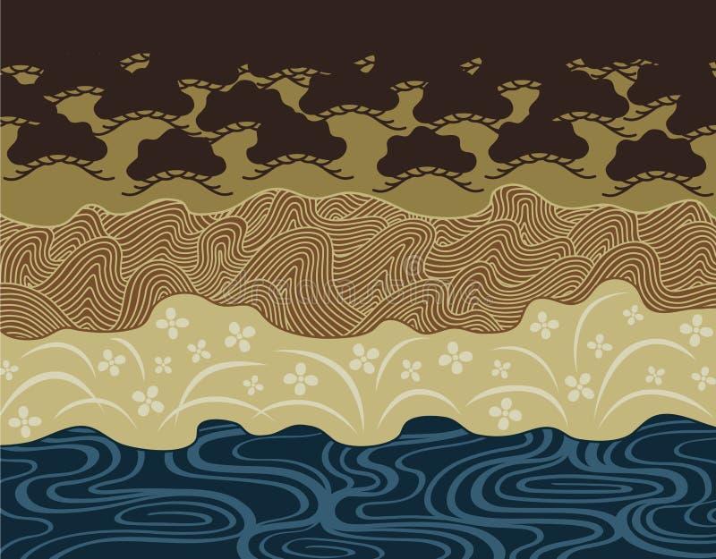 Japonia wzór royalty ilustracja