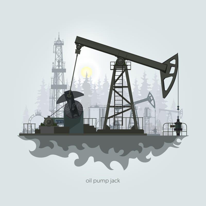 Jaque da bomba de petróleo ilustração royalty free