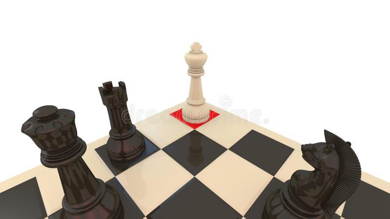 Jaque mate del ajedrez fotos de archivo libres de regalías