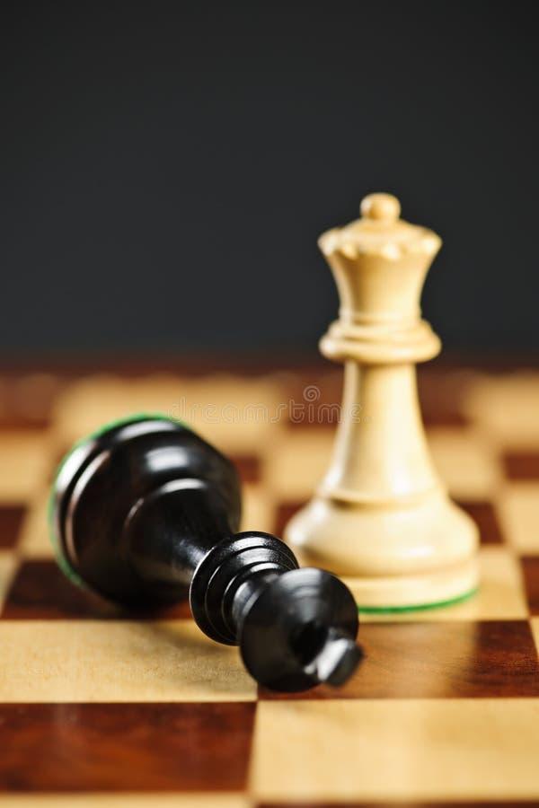 Jaque mate en ajedrez fotos de archivo libres de regalías