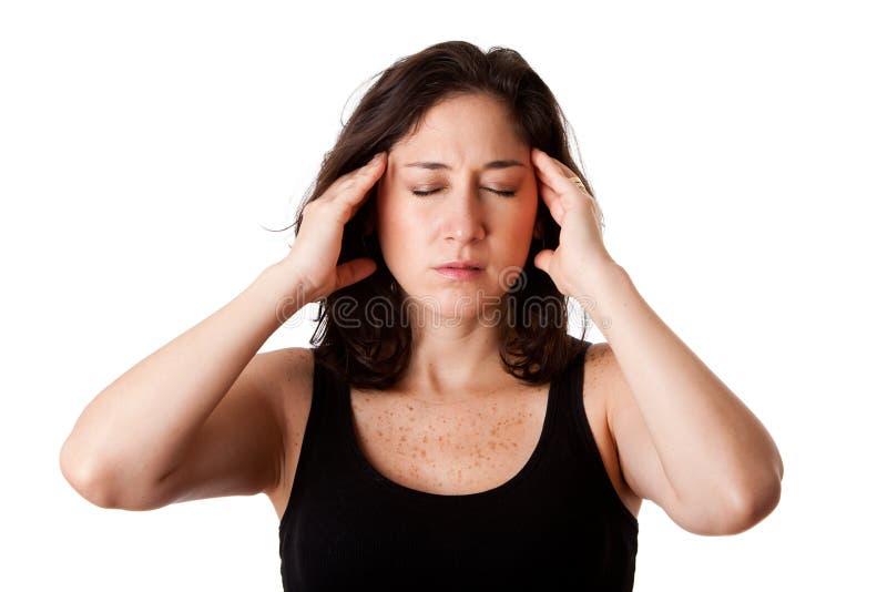 Jaqueca del dolor de cabeza foto de archivo