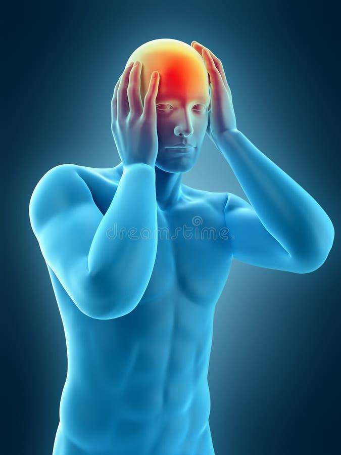 Jaqueca del dolor de cabeza libre illustration