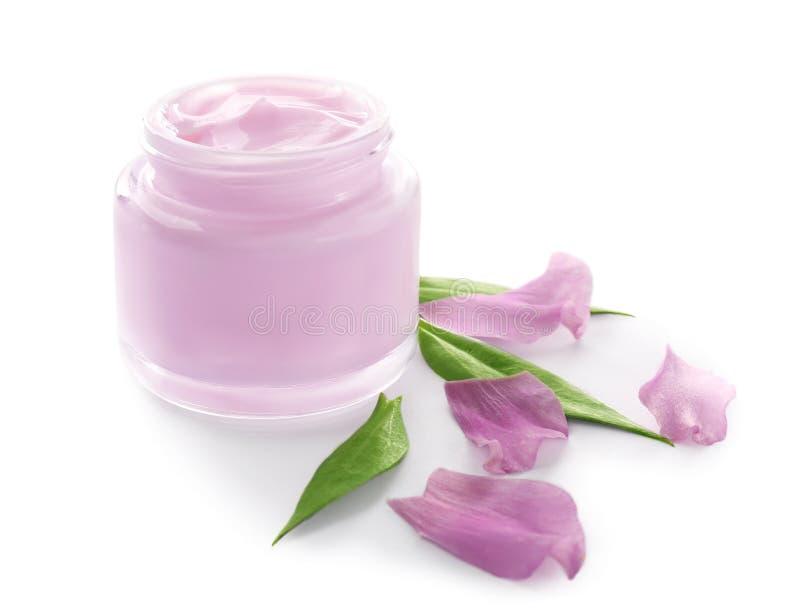 Jar with body cream royalty free stock photo