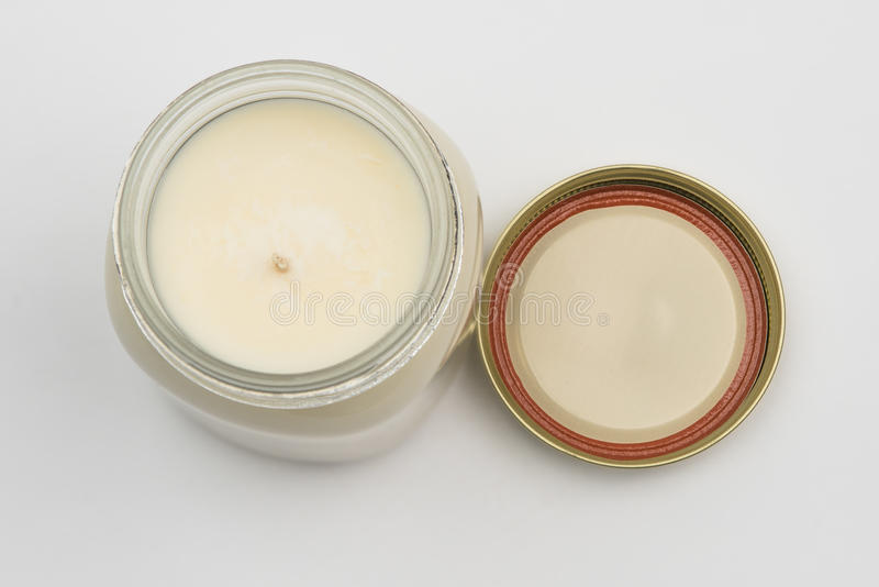 Download Jar Candle And Lid From Above Stock Image - Image: 73976263