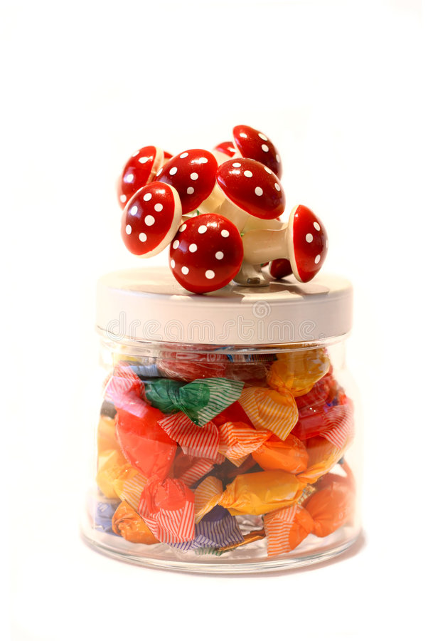 Jar of candy stock photography