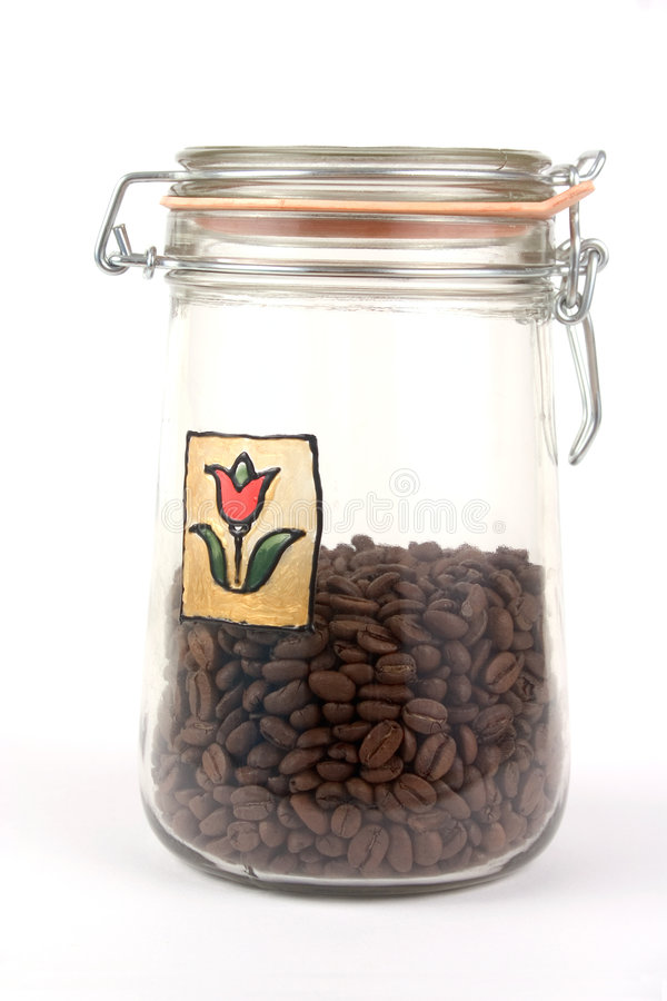 Download A Jar With Coffee Beans Royalty Free Stock Photo - Image: 1713475