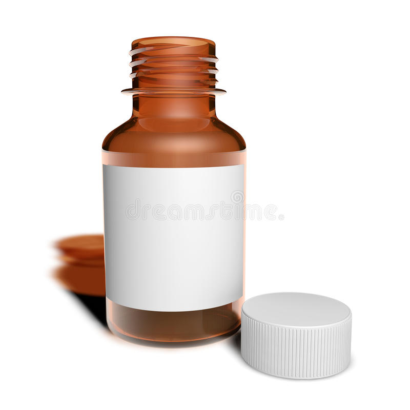 Jar of cough syrup. With white container vector illustration