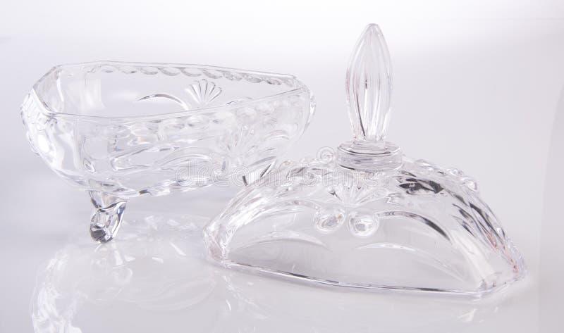 jar crystal krus på en bakgrund royaltyfria foton