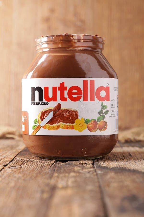 Jar de Nutella photographie stock