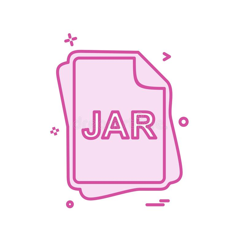 JAR file type icon design vector. This Vector EPS 10 illustration is best for print media, web design, application design user interface and infographics with royalty free illustration