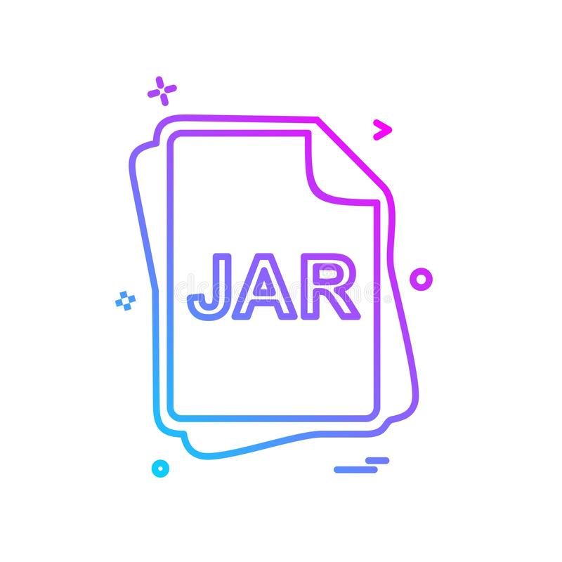 JAR file type icon design vector. This Vector EPS 10 illustration is best for print media, web design, application design user interface and infographics with vector illustration