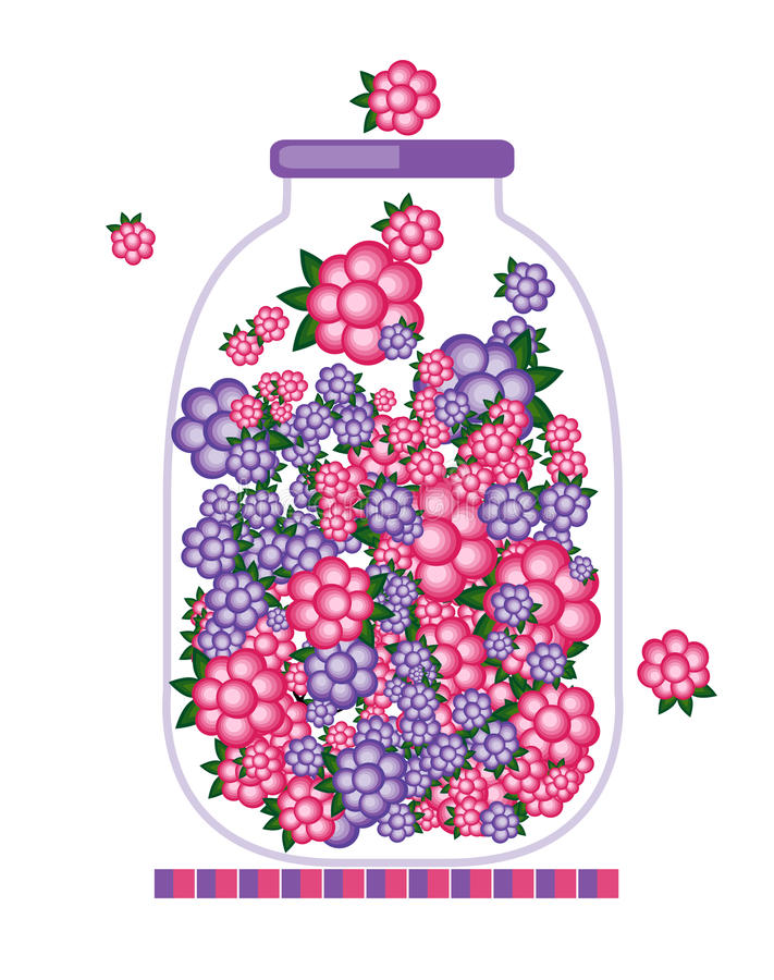 Download Jar with fruit jam design stock vector. Illustration of isolated - 25164160