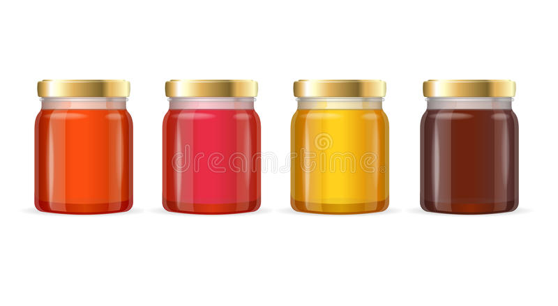 Jar Glass with Jam. Vector. Color Jar Glass with Jam. Vector illustration vector illustration